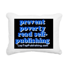 Prevent Poverty Read Sel Rectangular Canvas Pillow