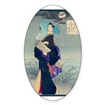Japanese Art Oval Sticker