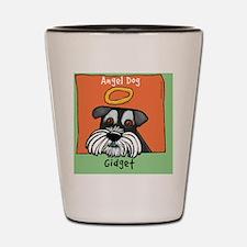 Gidget Angel Dog Mini Schnauzer Shot Glass