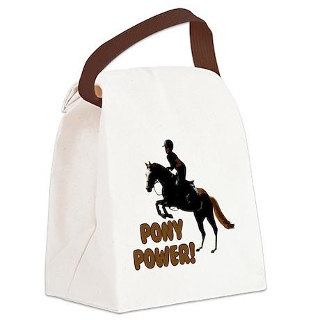 Cute Pony Power Equestrian Canvas Lunch Bag