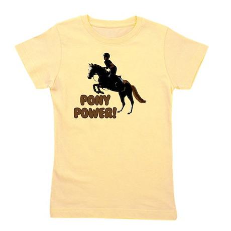 Cute Pony Power Equestrian Girl's Tee