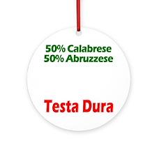 Calabrese - Abruzzese Round Ornament