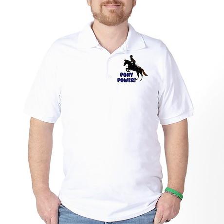Cute Pony Power Equestrian Golf Shirt