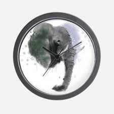 An Elephant never Forgets... TO PAINT! Wall Clock