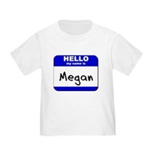 hello my name is megan T