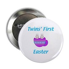 Twins' First Easter Button