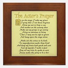 The Actor's Prayer Framed Tile