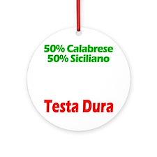 Calabrese - Siciliano Round Ornament