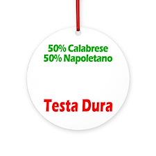 Calabrese - Napoletano Round Ornament