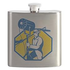 Electrical Lighting Technician Crew Spotligh Flask