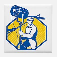 Electrical Lighting Technician Crew S Tile Coaster