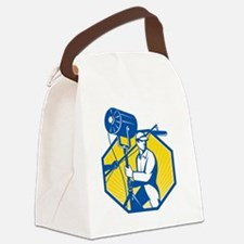 Electrical Lighting Technician Cr Canvas Lunch Bag