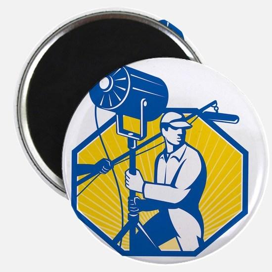 Electrical Lighting Technician Crew Spotlig Magnet