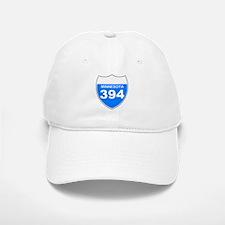 Interstate 394<BR> White Baseball Baseball Cap