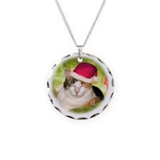 Christmas Calico Necklace