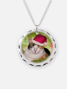 Christmas Calico Necklace