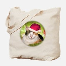 Christmas Calico Tote Bag