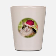Christmas Calico Shot Glass