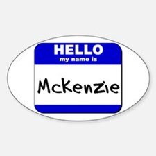 hello my name is mckenzie Oval Decal