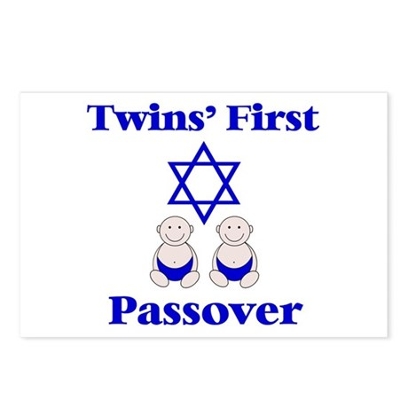 Twins' First Passover Postcards (Package of 8)
