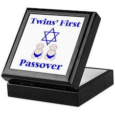 Twins' First Passover Keepsake Box