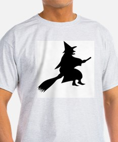 Halloween Witch And Broom T-Shirt