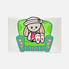 Little Bunny Girl Rectangle Magnet