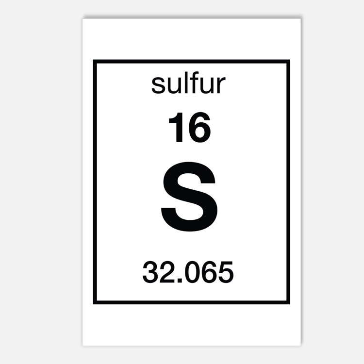 Czeshop Images Sulfur Symbol Periodic Table