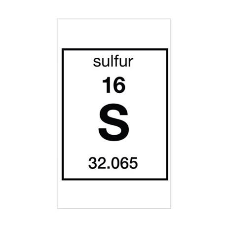 Sulfur Rectangle Sticker