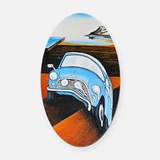 Melting Mini Oval Car Magnet