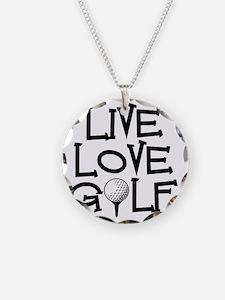 Live, Love, Golf Necklace