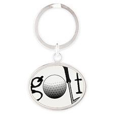 Golf Oval Keychain