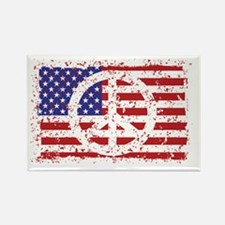 American Peace Rectangle Magnet
