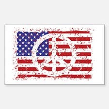 American Peace Sticker (Rectangle)