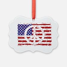 American Peace Ornament