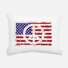 American Peace Rectangular Canvas Pillow