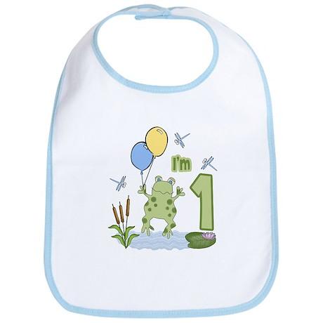 Froggie 1st Birthday Bib