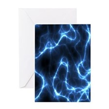 Electric Nebula 3 by 5 rug Greeting Card