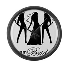team bride Large Wall Clock