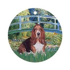 Lily Bridge Basset Ornament (Round)