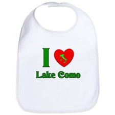 I Love Lake Como Italy Bib