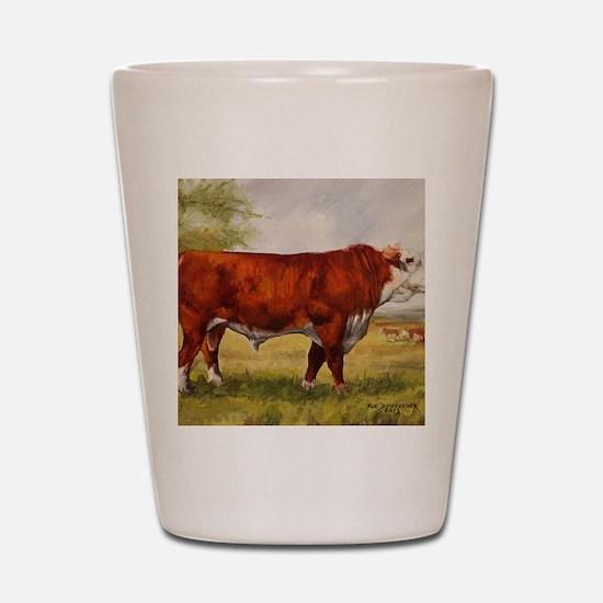 Hereford Bull The Champion Shot Glass