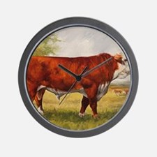 Hereford Bull The Champion Wall Clock