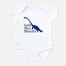 Loch Ness Monster Dark Blue Infant Bodysuit