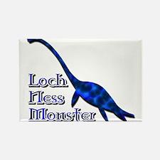 Loch Ness Monster Dark Blue Rectangle Magnet
