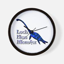 Loch Ness Monster Dark Blue Wall Clock