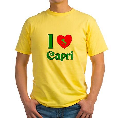 I Love Capri Italy Yellow T-Shirt