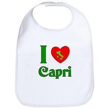 I Love Capri Italy Bib