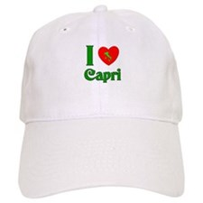 I Love Baseball Capri Italy Baseball Cap