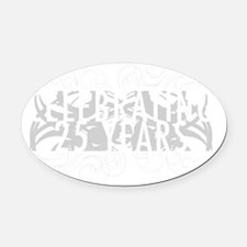Celebrating 25 Years Of Marriage Oval Car Magnet